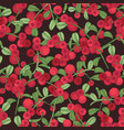 elegant seamless pattern with arctic lingonberry vector image