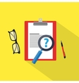 Faq icon flat material vector image