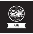flat icon in black and white style air sign zodiac vector image vector image