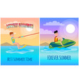 forever summer best lovely time poster vector image vector image