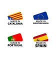 four catalonia eu portuguese and spain stickers vector image vector image