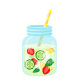 fruit water icon healthy berry beverage for vector image vector image