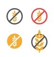 gluten free grain icons set