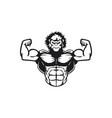 gorilla muscle mascot logo design vector image
