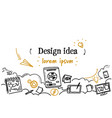 graphic design idea development concept sketch vector image vector image