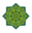 green mandala for energy and vitality obtaining vector image vector image