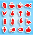 healthy food paper icons set vector image vector image