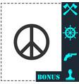 hippie peace icon flat vector image vector image