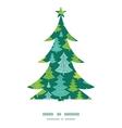 holiday christmas trees Christmas tree silhouette vector image
