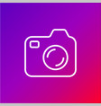 icon of photocamera simple camera icon on vector image vector image