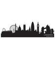 London england skyline detailed silhouette vector | Price: 1 Credit (USD $1)