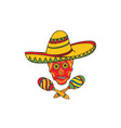 mexican icon welcome to mexico sign mexican vector image vector image