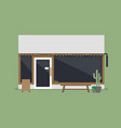 modern coffee shop or cafe front view vector image