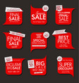 modern sale banners and labels collection 03 vector image vector image