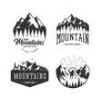 mountains logos set vector image