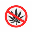 no drugs sign symbol icon vector image vector image