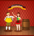 oktoberfest celebration beer vector image vector image