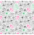 seamless pattern with colored doodle gift boxes on vector image vector image