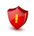 Security alert shield vector image