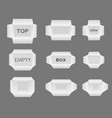 set of boxes different sizes for your design vector image