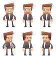 set of director character in different poses vector image vector image