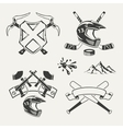 Set of extreme sports emblems badges labels and vector image vector image