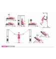 Set of workout for chest vector image