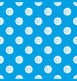 sewing button pattern seamless blue vector image vector image