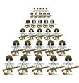 Soldiers graves Many military crosses for vector image vector image