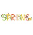 spring inscription banner vector image vector image