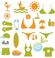 summer signs vector image vector image