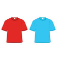 t-shirt red and blue vector image vector image