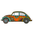 Vintage car in Tangle Patterns vector image vector image