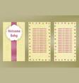 wellcome baby greeting card birthday postcard vector image vector image