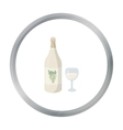 White wine icon in cartoon style isolated on white vector image vector image