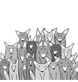 wolf big family sketch for your design vector image