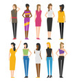 woman flat style people figures set isolated on vector image vector image