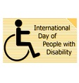 international Day of people with disability vector image