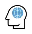 man with globe global man symbol vector image