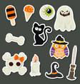 halloween symbols collection halloween symbols vector image