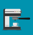 flat coffee machine icon vector image