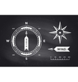 Rose Wind and Compass Set of vintage arrows for vector image