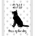 chinese new year 2018 zodiac dog vector image