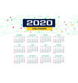 2020 new year calender template design