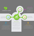 abstract element for business presentation vector image