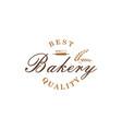 bakery dessert baverage sign logo template vector image vector image