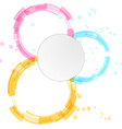Bright modern circle design elements background vector image