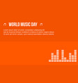 celebration music day background style vector image vector image