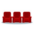 cinema red chair vector image vector image