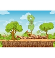 Country seamless landscape in cartoon style vector image